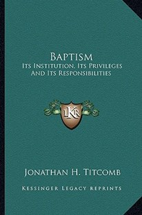 Baptism by Jonathan H Titcomb (9781163284445) - PaperBack - Modern & Contemporary Fiction Literature