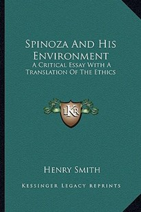 Spinoza and His Environment by Henry Smith (9781163298381) - PaperBack - Modern & Contemporary Fiction Literature