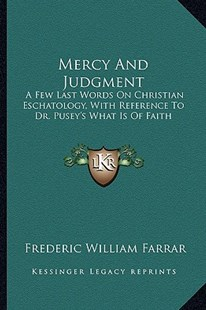 Mercy and Judgment by Frederic William Farrar (9781163304297) - PaperBack - Modern & Contemporary Fiction Literature