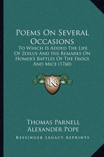 Poems on Several Occasions by Thomas Parnell, Alexander Pope (9781164020349) - PaperBack - Modern & Contemporary Fiction Literature