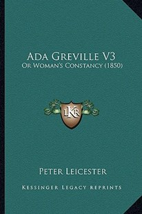 ADA Greville V3 by Peter Leicester (9781164559061) - PaperBack - Modern & Contemporary Fiction Literature