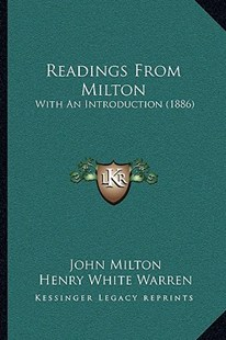Readings from Milton by John Milton, Henry White Warren (9781164917090) - PaperBack - Modern & Contemporary Fiction Literature