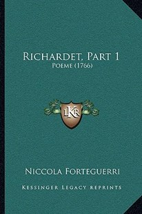 Richardet, Part 1 by Niccolo Forteguerri (9781164922278) - PaperBack - Reference Law
