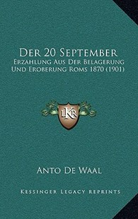 Der 20 September by Anto De Waal (9781167803987) - HardCover - Modern & Contemporary Fiction Literature
