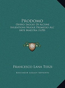 Prodomo by Francesco Lana Terzi (9781169756021) - HardCover - Modern & Contemporary Fiction Literature