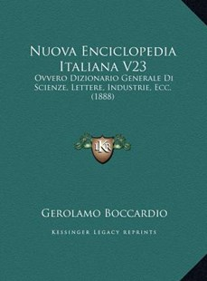 Nuova Enciclopedia Italiana V23 by Gerolamo Boccardio (9781169806771) - HardCover - Modern & Contemporary Fiction Literature