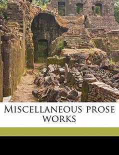 The Miscellaneous Prose Works by Sir Walter Scott (9781172340712) - PaperBack - History