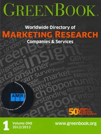 GreenBook Worldwide Directory of Marketing Research Companies and Services, 2012/2013 & Greenbook W