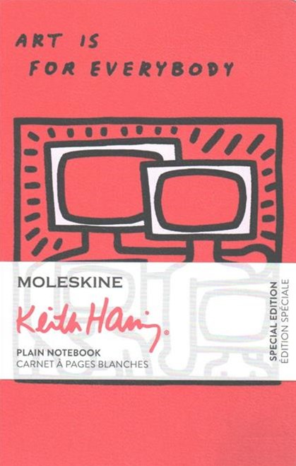 Moleskine Limited Edition Keith Haring, Notebook, Pocket, Plain, Scarlet Red