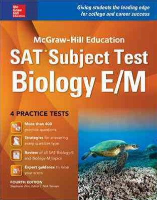 McGraw-Hill Education SAT Subject Test Biology e/M 4th Ed