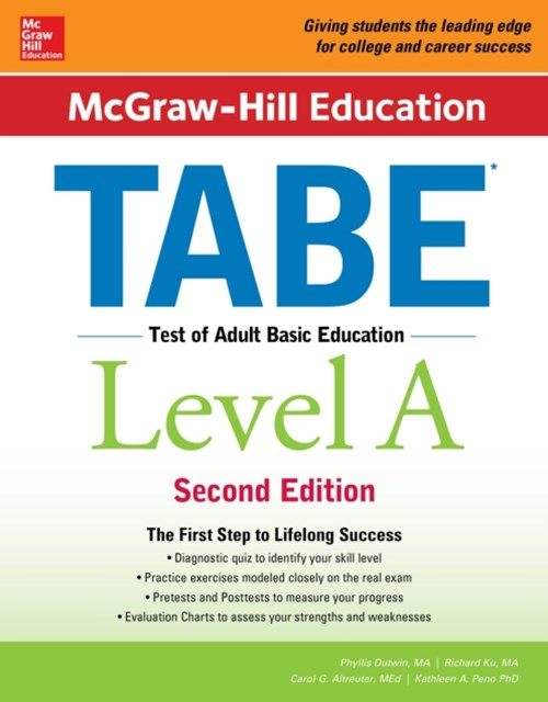 McGraw-Hill Education TABE Level A, Second Edition