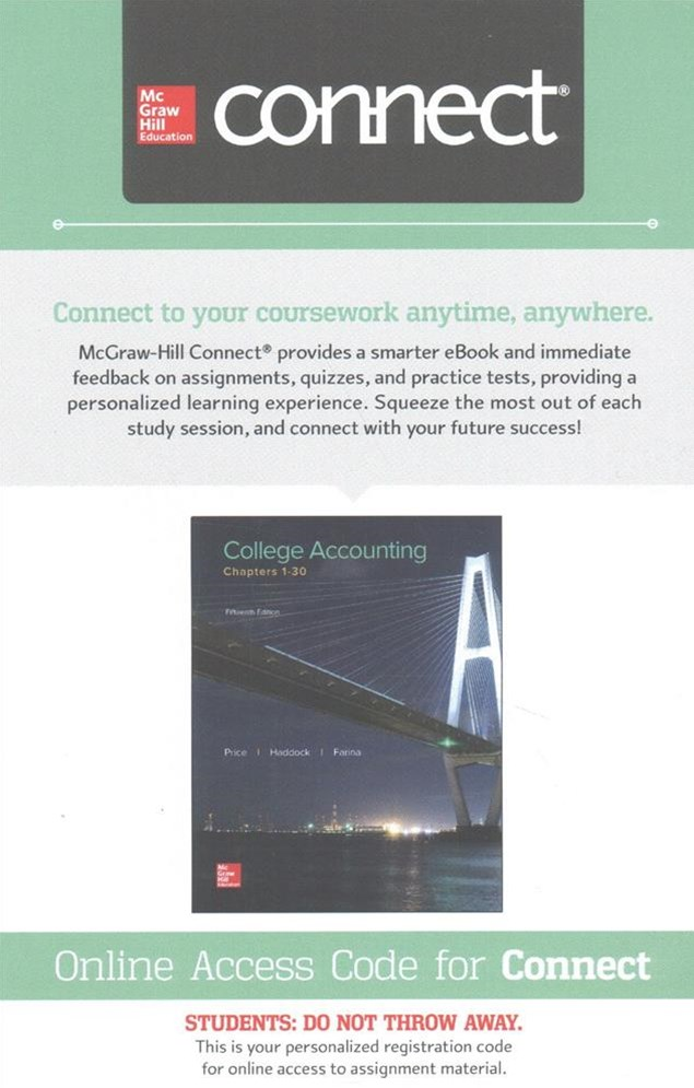 Connect Access Card for College Accounting