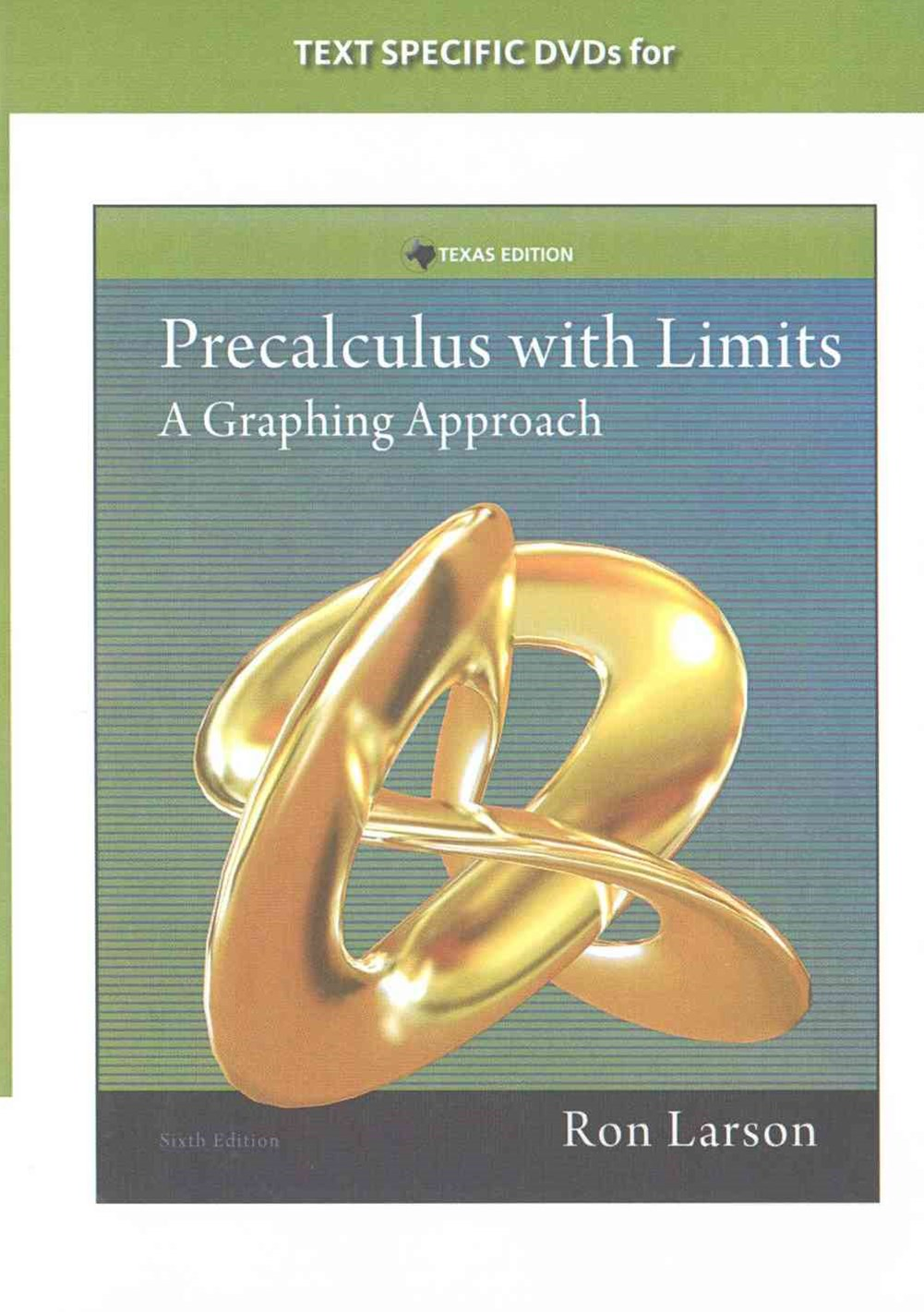 DVD Lecture Videos for Larson's Precalculus with Limits: A Graphing  Approach, Texas Edition, 6th