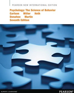 Psychology: Sci Behavior Pnie by Carlson, Miller, Heth, Donahoe, Martin, Harold L. Miller, Donald S. Heth, John W. Donahoe, G. Neil Martin (9781292039695) - PaperBack - Social Sciences Psychology