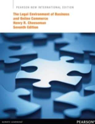Legal Environment of Business and Online Commerce: Pearson New International Edition