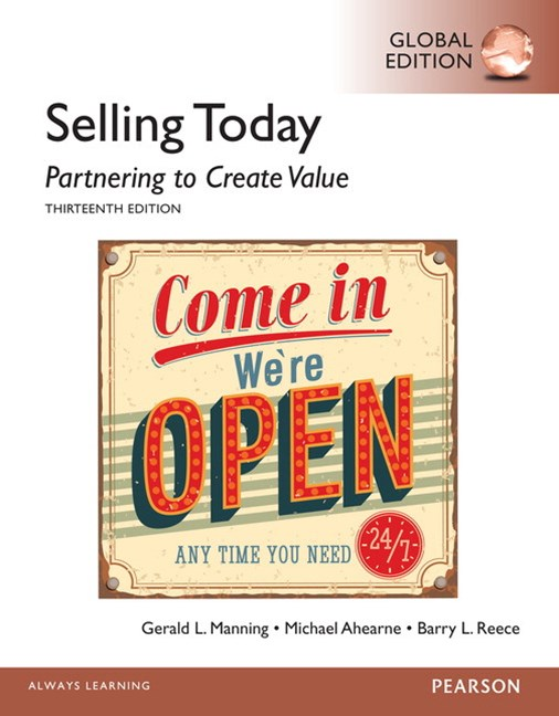 (ebook) Selling Today: Partnering to Create Value, Global Edition