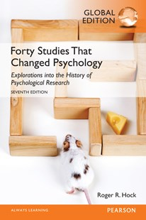 Forty Studies that Changed Psychology, Global Edition by Hock, Roger R. (9781292070964) - PaperBack - Education