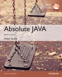 (ebook) Absolute Java, Global Edition - Computing Programming