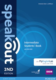 Speakout Intermediate Students' Book with DVD + MyEnglishLab by Antonia Clare, J. J. Wilson (9781292115955) - Multiple-item retail product - Language English