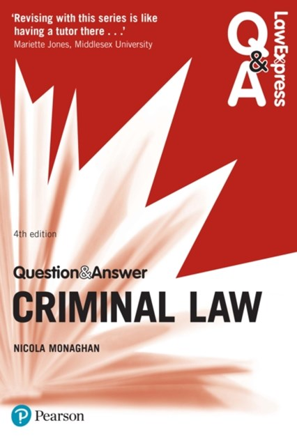 (ebook) Law Express Question and Answer: Criminal Law