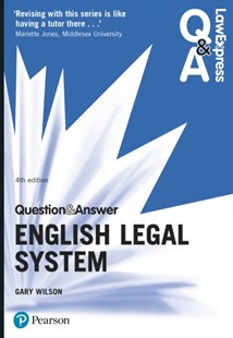 (ebook) Law Express Question and Answer: English Legal System - Reference Law