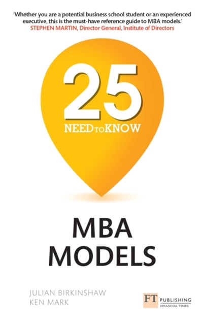 (ebook) 25 Need-to-Know MBA Models