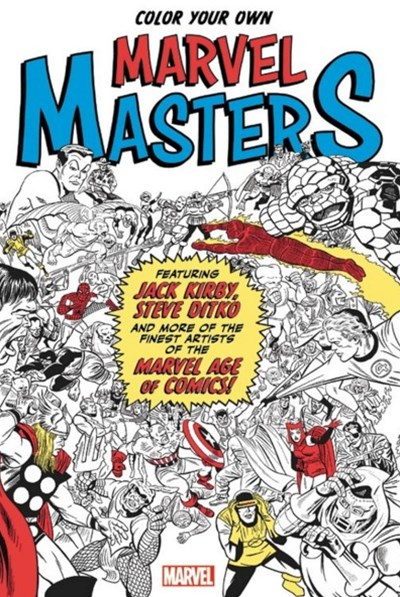 Colour Your Own Marvel Masters