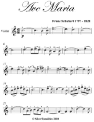 Ave Maria Beginner Piano Sheet Music