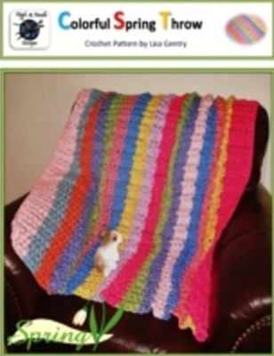 (ebook) Colorful Spring Throw - Crochet Pattern