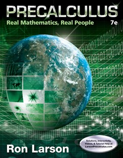 Precalculus : Real Mathematics, Real People by Charles Larson, David C. Falvo (9781305071704) - HardCover - Science & Technology Mathematics