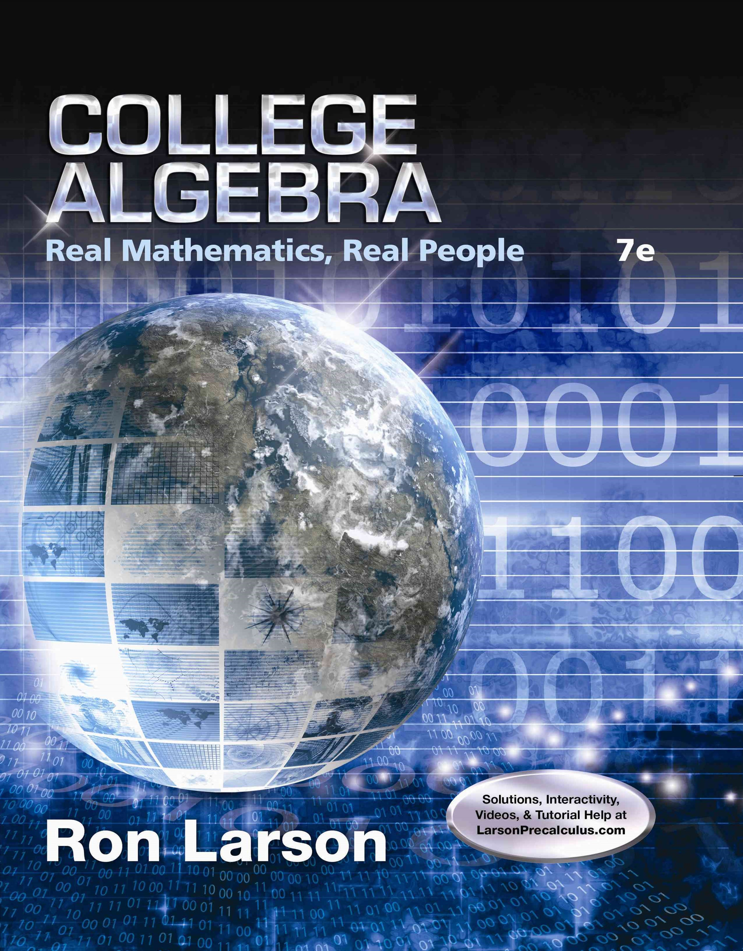 College Algebra : Real Mathematics, Real People