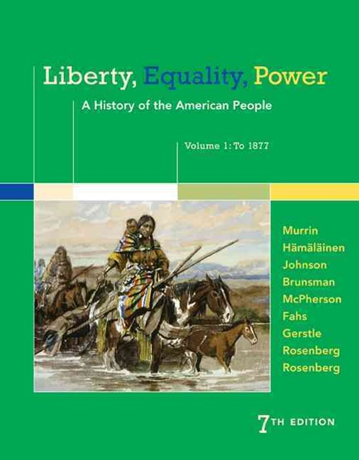 Liberty, Equality, Power : A History of the American People, Volume 1:  To 1877