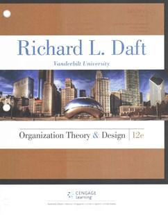 Organization Theory and Design by Richard L. Daft (9781305629943) - PaperBack - Business & Finance Management & Leadership