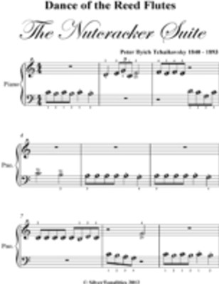 Dance of the Reed Flutes Nutcracker Suite Beginner Piano Sheet Music