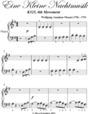 Eine Kleine Nachtmusik K525 4th Movement Beginner Piano Sheet Music