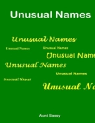 (ebook) Unusual Names