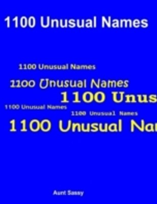 (ebook) 1100 Unusual Names
