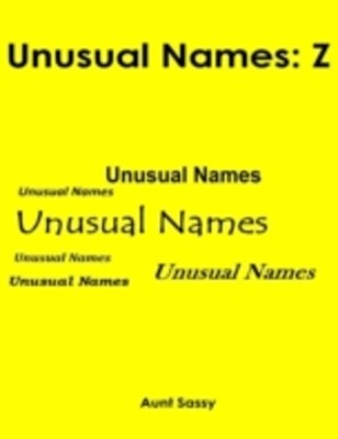 (ebook) Unusual Names: Z