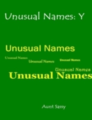 (ebook) Unusual Names: Y