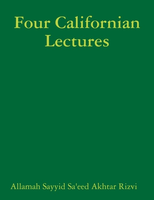 (ebook) Four Californian Lectures