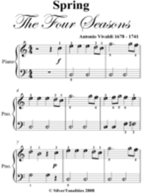 Spring Four Seasons Easiest Piano Sheet Music