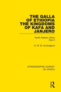 (ebook) The Galla of Ethiopia; The Kingdoms of Kafa and Janjero - Science & Technology Environment