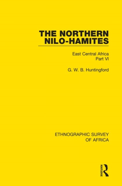 The Northern Nilo-Hamites