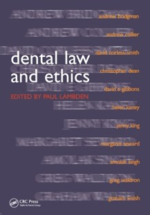 (ebook) Dental Law and Ethics - Reference Medicine
