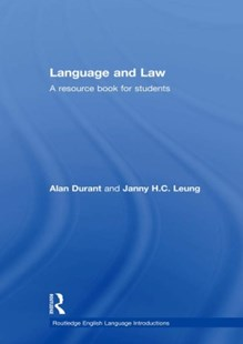 (ebook) Language and Law - Reference Law