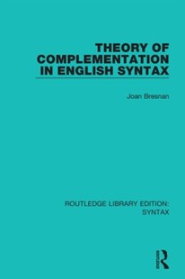 (ebook) Theory of Complementation in English Syntax - Reference