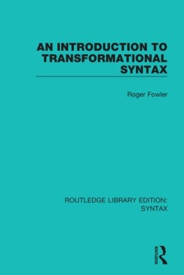 (ebook) An Introduction to Transformational Syntax