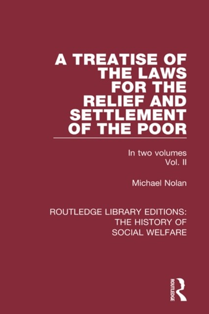(ebook) Treatise of the Laws for the Relief and Settlement of the Poor
