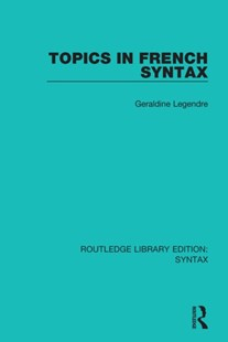 (ebook) Topics in French Syntax - Reference