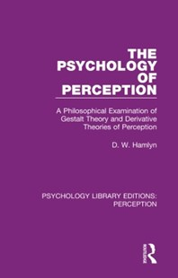 (ebook) The Psychology of Perception - Philosophy Modern